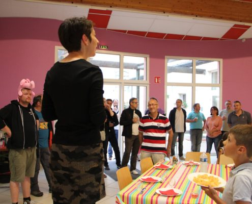 Isabelle Nadolny présente le travail de la commission communication d'ENTREN